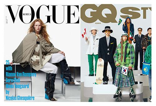 보그 Vogue Korea + 지큐 GQ Korea 2021.8 - 전2권