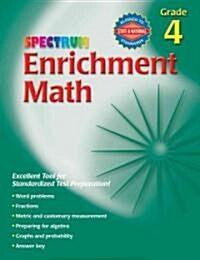 Spectrum Enrichment Math, Grade 4 (Paperback, Workbook)
