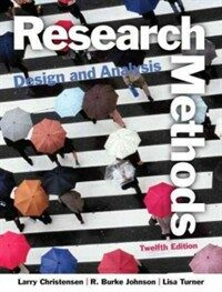 Research methods, design, and analysis 12th ed