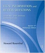 Vital Information and Review Questions for the NCE, CPCE, and State Counseling Exams : Special 15th Anniversary Edition (CD-Audio, 3 New edition)