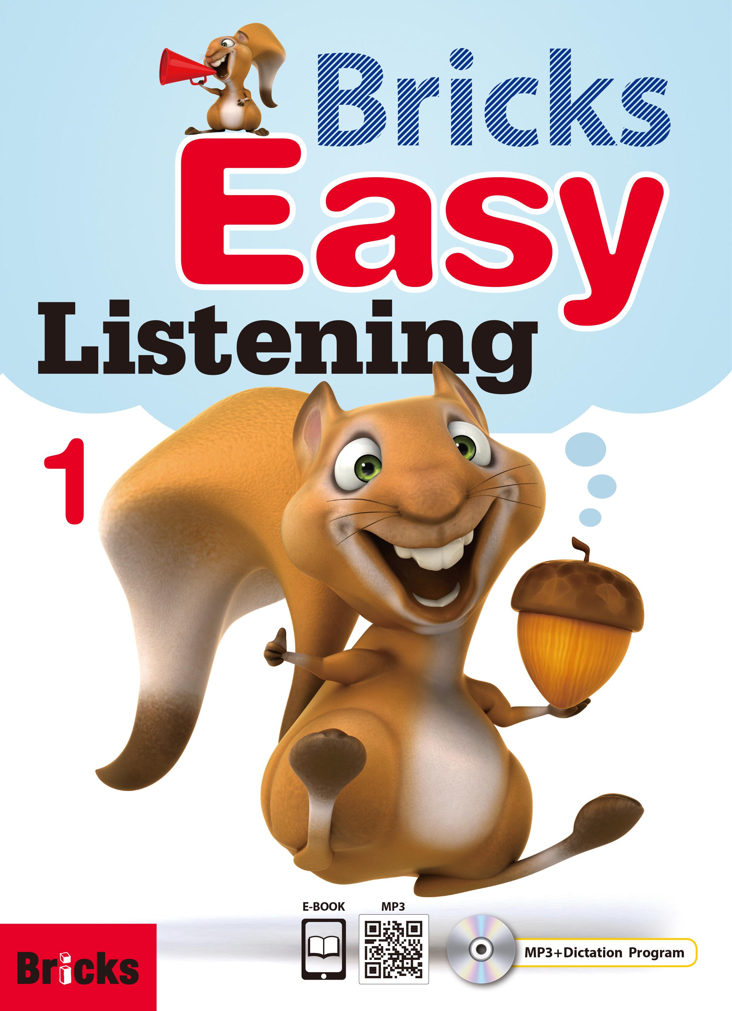 [중고] Bricks Easy Listening 1 (Student Book + Work Book + QR + MP3 CD +  Ebook Co)