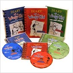 Diary of a Wimpy Kid #1-3 (Paperback + CD)(미국판)