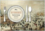 Winter Scenes: 48 Placemats: 8 X 6 Famous Paintings by Dutch Masters (Paperback)