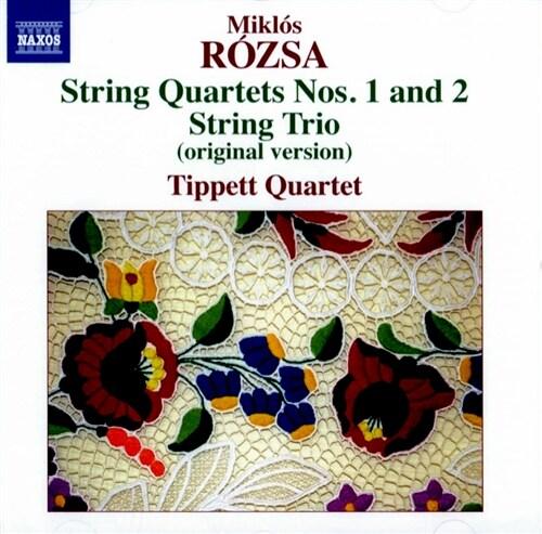 [수입] 로자 : 현악 사중주 1, 2번, 현악 삼중주 Op.1