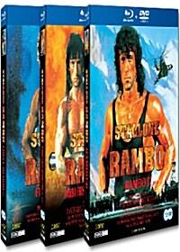 [블루레이] 람보 1-3편 : 스페셜 에디션 콤보팩 (6disc: 3BD+3DVD)