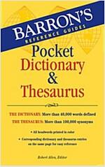 Barron's Pocket Dictionary & Thesaurus (Paperback, Student)