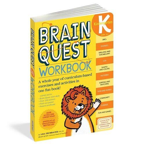 Brain Quest Workbook: Kindergarten [With Stickers] (Paperback)