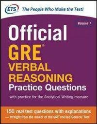 Official GRE Verbal Reasoning Practice Questions (Paperback)
