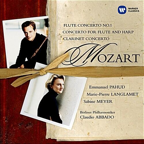 모차르트 : 플루트 협주곡 1번, 플루트와 하프를 위한 협주곡 C장조 KV 299, 클라리넷 협주곡 A장조 KV 622