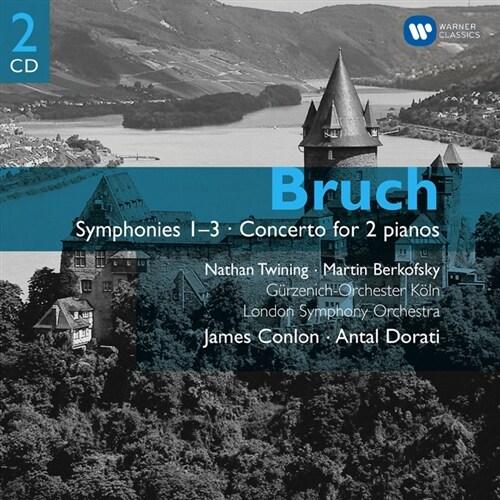 [수입] 브루흐 : 교향곡 1-3번 & 2대의 피아노를 위한 협주곡 [2CD]