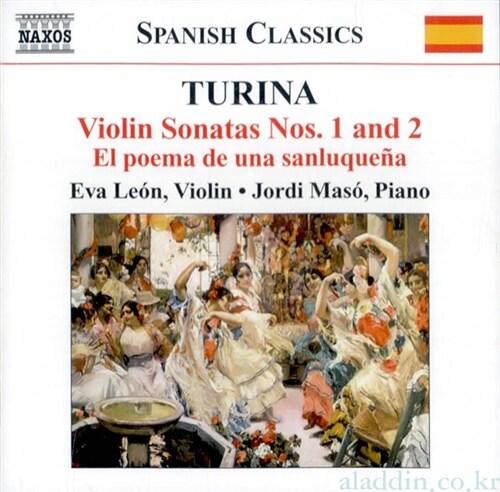 [수입] 투리나 : 바이올린소타나 1,2번, 고전변주곡, 환상곡 외