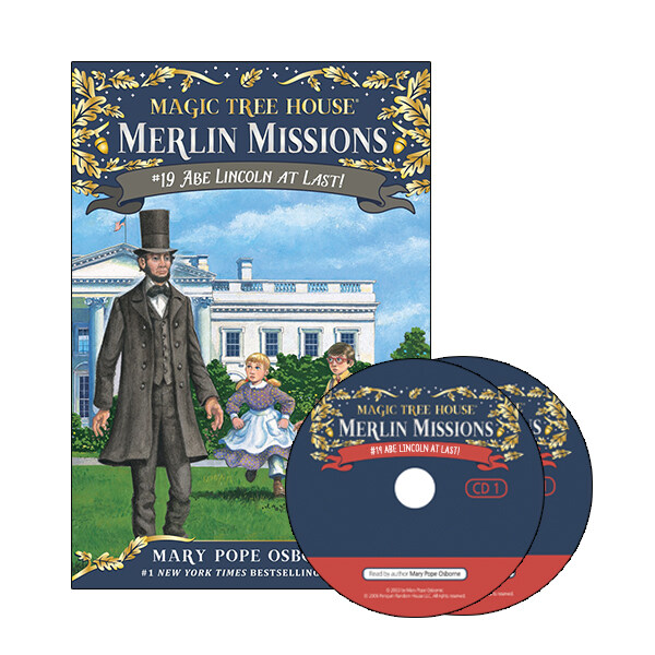 Merlin Mission #19 : Abe Lincoln at Last! (Paperback + CD )