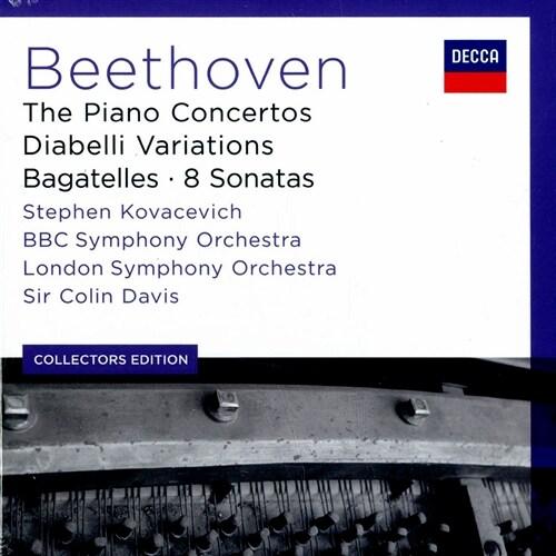 [수입] 베토벤 : 피아노 협주곡 전곡, 바가텔 & 피아노 소나타 [6CD]