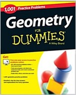 Geometry: 1,001 Practice Problems for Dummies (+ Free Online Practice) (Paperback)