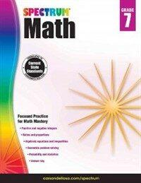Spectrum Math Workbook, Grade 7 (Paperback)