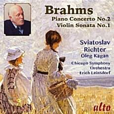 [수입] 브람스 : 피아노 협주곡 2번, 바이올린 소나타 1번