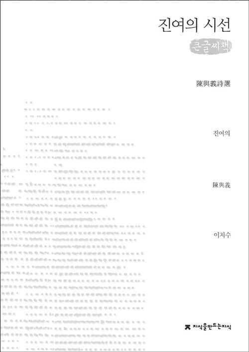 진여의 시선 (큰글씨책)