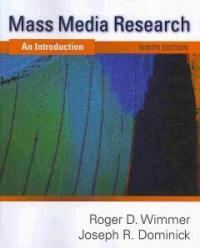 Mass media research : an introduction 9th Ed