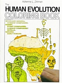 The Human Evolution Coloring Book (College Outline) (Paperback, First Edition)