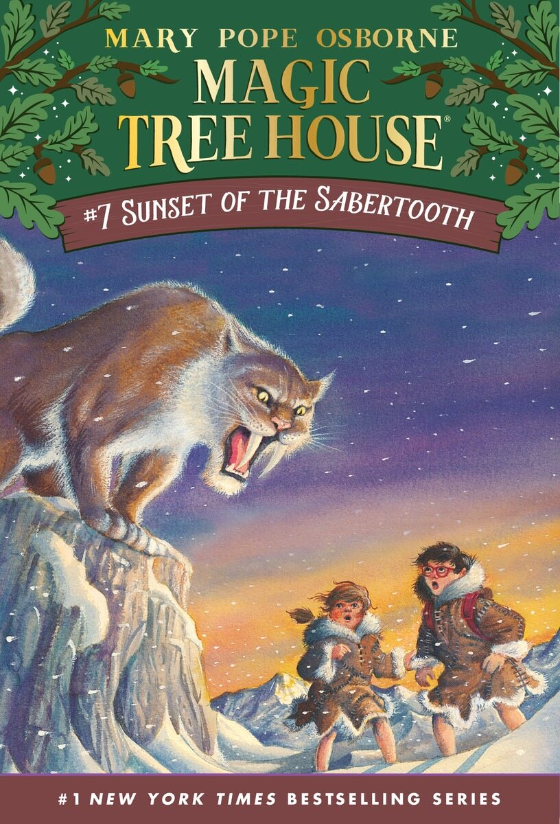 Magic Tree House #7 : Sunset of the Sabertooth (Paperback)