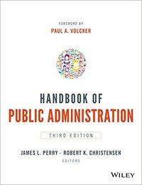 Handbook of public administration 3rd ed