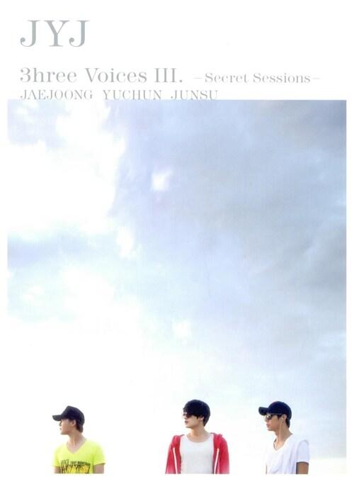JYJ - JYJ 3hree Voices Ⅲ ~Secret Sessions~ (2disc+포스터)