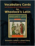 Vocabulary Cards and Grammatical Forms Summary for Wheelock's Latin (Paperback, 2nd)