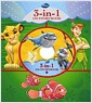 Disney 3-IN-1 CD Storybook : Lion King, Finding Nemo, Jungle Book (Hardcover)
