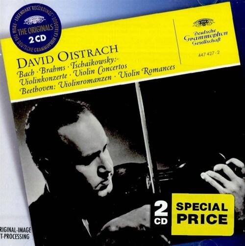 [수입] 바흐, 브람스, 차이콥스키 : 바이올린 협주곡 & 베토벤 : 바이올린과 오케스트라를 위한 로망스 1 ,2번 [2CD]