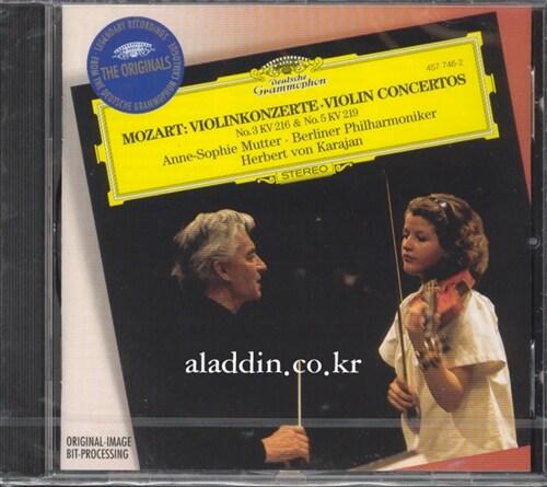 [수입] 모차르트 : 바이올린 협주곡 3번 KV216, 5번 KV219