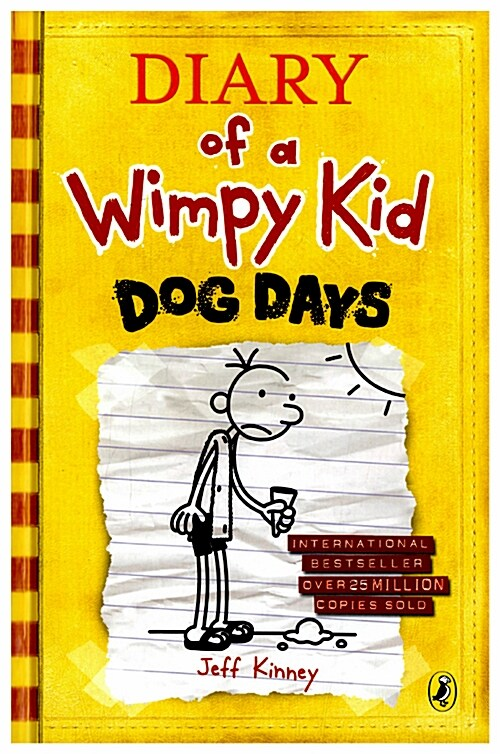 Diary of a Wimpy Kid #4 : Dog Days (Hardcover, 영국판)