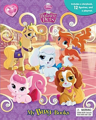 My Busy Books : Palace Pets (미니피규어 12개 포함) (Board Book, ACT)
