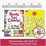 Pack-Ready, Set, Create ! 1 : The Three Little Pigs (SB+Multi CD+AB+Wall Chart)