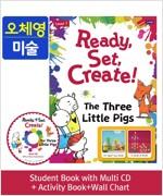 Pack-Ready, Set, Create ! 1 : The Three Little Pigs (SB+Multi CD+AB+Wall Chart)