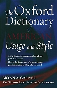 The Oxford Dictionary of American Usage and Style (Paperback)