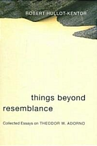 Things Beyond Resemblance: Collected Essays on Theodor W. Adorno (Paperback)