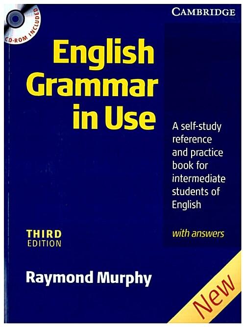 [중고] English Grammar In Use with Answers and CD ROM : A Self-study Reference and Practice Book for Intermediate Students of English (Package, 3 Rev ed)