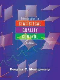 Introduction to statistical quality control 6th ed