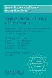 Representation Theory of Lie Groups (Paperback)