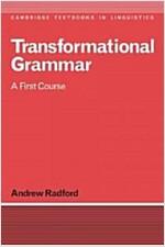 Transformational Grammar: A First Course (Paperback)