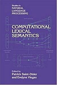 Computational Lexical Semantics (Hardcover)