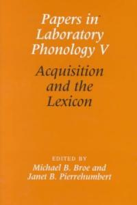 Acquisition and the lexicon