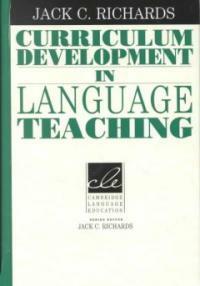 Curriculum development in language teaching