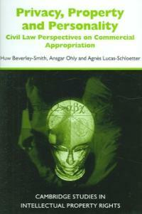 Privacy, property and personality : civil law perspectives on commercial appropriation