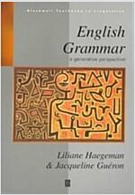 English Grammar : A Generative Perspective (Paperback)