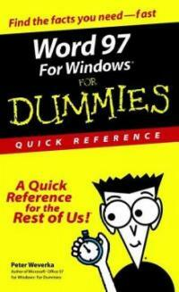 Word 97 for Windows for dummies : quick reference