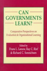 Can governments learn? : comparative perspectives on evaluation organizational learning