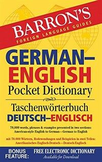 German-English Pocket Dictionary: 70,000 Words, Phrases & Examples (Paperback, 2)