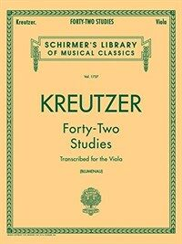 Forty-Two Studies for the Viola (Paperback)