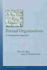 Formal organizations : a comparative approach